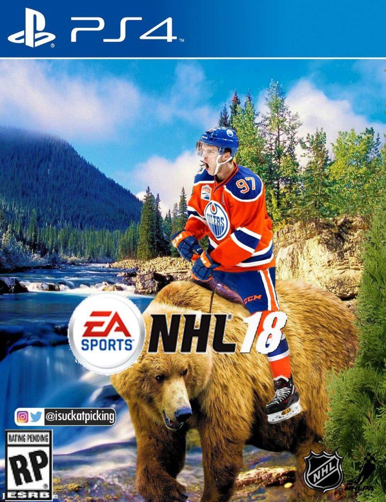connor mcdavid nhl 18 cover