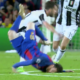 messi hits ground vs juventus