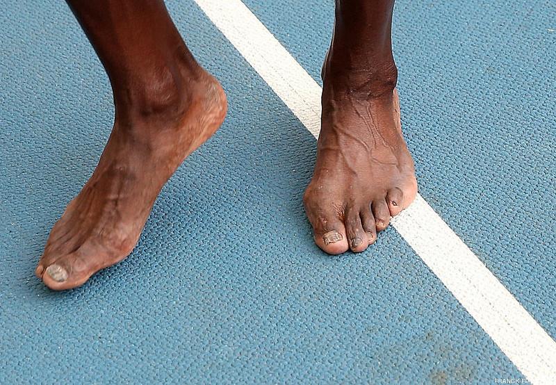 usain bolt feet
