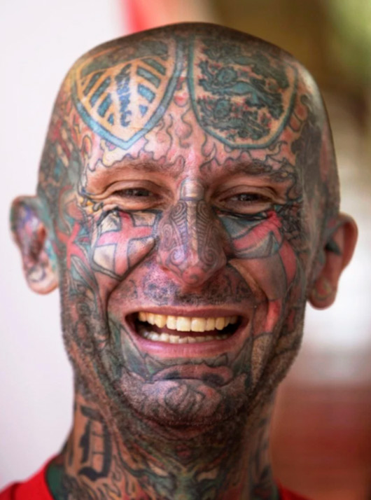 english soccer face tattoo