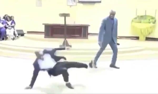 african preacher soccer video
